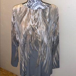 NWOT Susan Graver long sleeved knit pull over
